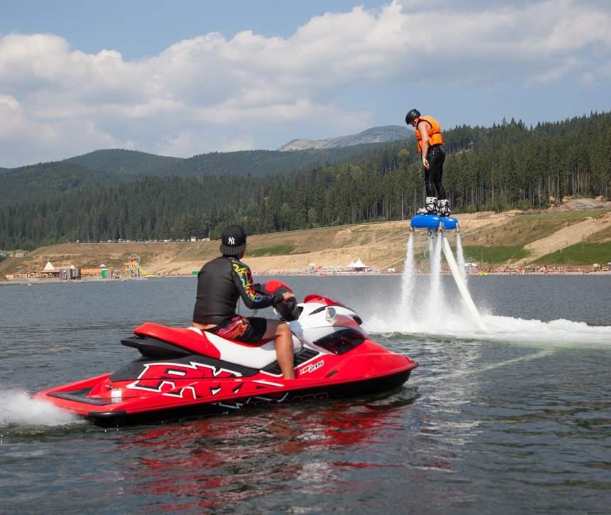 FlySurf на великому озері в Буковелі