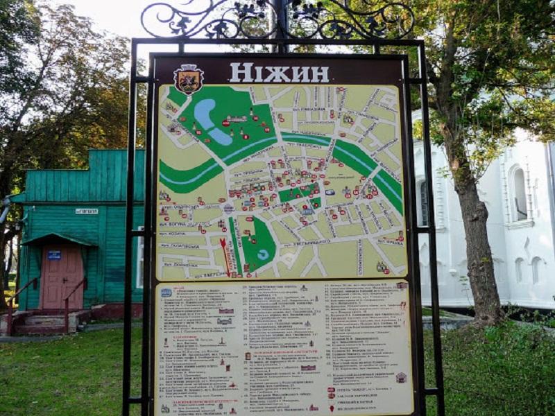 Детальна туристична мапа біля Миколаївського собору