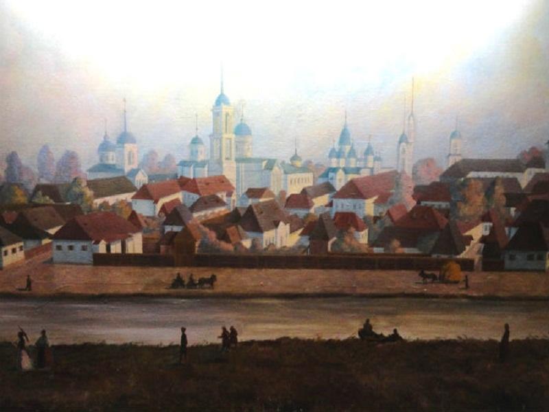 Панорама центру Ніжина першої половини ХІХ ст