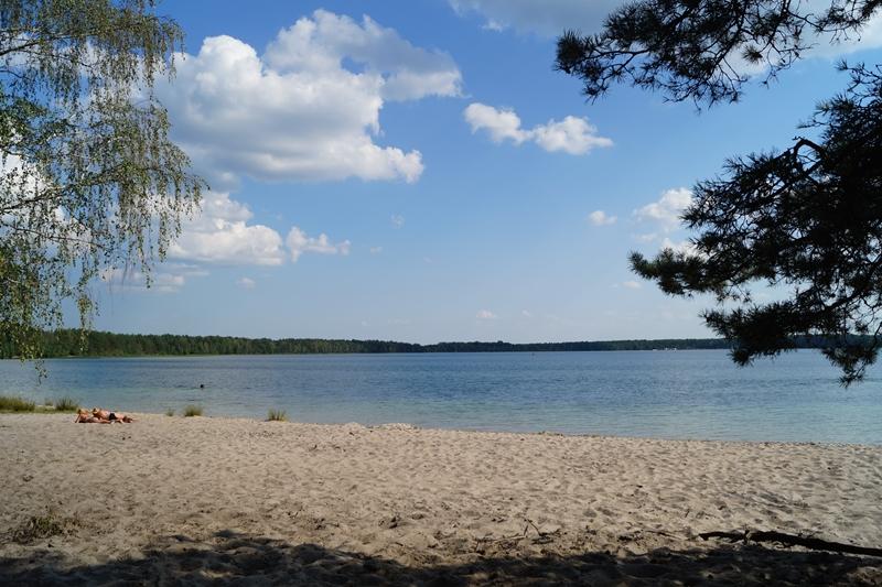 Пляж на озері Пісочному